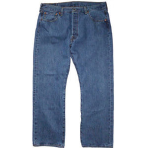 LEVI'S 501 MENS JEANS BUTTON FLY WAIST 36